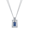18K DIAMOND AND SAPPHIRE NECKLACE