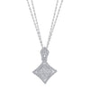18K White Gold Pendant Necklace With Diamonds