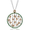 18K Diamonds And Tsavorite Necklace