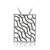 18K White Gold Square Necklace With Diamonds