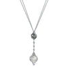 18K Diamond And Sead Pearl Necklace
