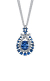 18K Tanzanite Necklace With Diamonds And Sapphires