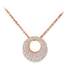 18K Rose Gold Pendant Necklace With Diamonds