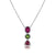 18K Gold Tourmaline Drop Necklace With Diamonds