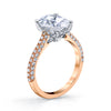 18K Rose Gold Pave Oval Engagement Ring