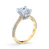 18K YELLOW GOLD PAVE PRINCESS ENGAGEMENT RING
