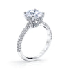 18K WHITE GOLD PAVE OVAL ENGAGEMENT RING