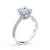 18K White Gold Pave Princess Engagement Ring