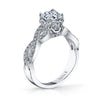 18K White Gold Diamond Engagement Ring