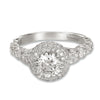 18K White Gold Halo Diamond Engagement Ring