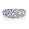 18K White Gold Diamond Pave Domed Shaped Ring