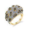 18K YELLOW GOLD FASHION DIAMOND RING