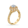 18K YELLOW GOLD SIGNATURE CROWN DIAMOND ENGAGEMENT RING