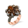 18K Rose Gold Fashion Diamond And Smokey Quartz Ring