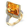 18K YELLOW GOLD FASHION DIAMOND AND CITRINE RING