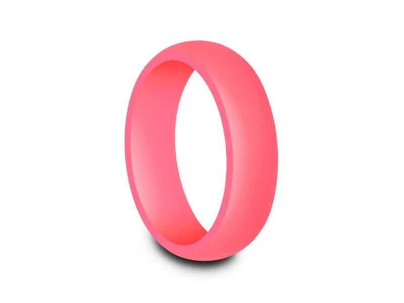 Fitness Bands Perfect for Crossfit Black Silicone Wedding Rings for Women Wod