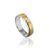 14K WHITE/YELLOW GOLD BRUSHED 6MM WEDDING BAND