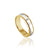 14K YELLOW/WHITE GOLD MILG/DOME/POLISH 6.6MM WEDDING BAND
