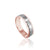 14K PINK/WHITE GOLD HAMMERED 6MM WEDDING BAND