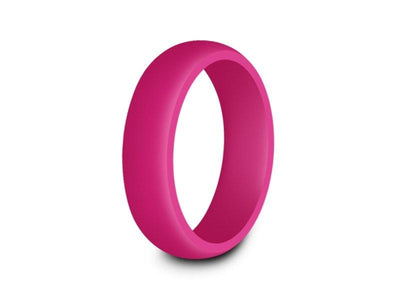 Ladies Silicone Ring - Cross Fit - Active - Flexible - Girl's Rubber Ring - Wedding Band - Silicone Ring - Comfort Fit 6mm - Vantani Wedding Bands