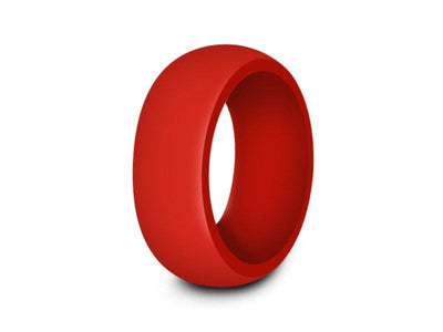 Men's Silicone Ring  - Cross Fit - Rubber Ring - Active Life Style - Flexible - Wedding Band - Silicone Ring - Comfort Fit  8mm - Vantani Wedding Bands