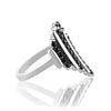 Sterling silver heart ring with black spinel