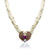 Five strand pearl necklace with mother of pearl