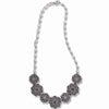 STERLING SILVER NECKLACE WITH MARCASITE AND CRYSTALS