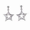 STERLING SILVER STAR EARRINGS WITH CZ STONES