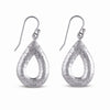 STERLING SILVER TEARDROP HAMMERED EARRINGS