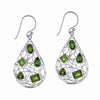 STERLING SILVER PERIDOT DANGLE EARRINGS