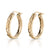 14K Yellow Gold Engraved Hawaiian Hoop Earrings