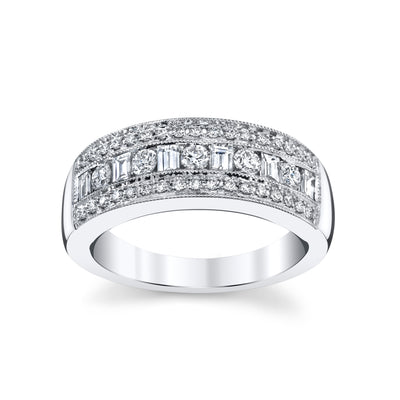 14K White Gold Fashion Diamond Ring