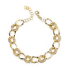 "14K Yellow Gold Chain Link Bracelet 7"" With Extension"