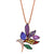 14K Rose Gold Bird Of Paradise Multi Gem Necklace