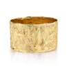 14K Yellow Gold Engraved Hawaiian Heirloom Bangle