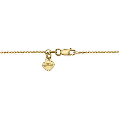 14K Yellow Gold Diamond Cross Necklace