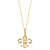 "14K GOLD  ""FLEUR-DE-LIS"" DIAMOND NECKLACE"