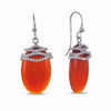 STERLING SILVER DANGLE EARRINGS WITH AGATE STONE
