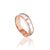 14K PINK/WHITE GOLD POLISH/DOME 6MM WEDDING BAND