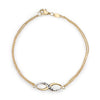 14K Yellow Gold Infinity Bracelet