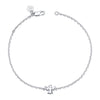 14K White Gold Kids Angel Bracelet