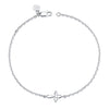 14K White Gold Kids Cross Bracelet