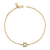 14K Yellow Gold Kids Star Of David Bracelet