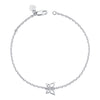 14K White Gold Kids Butterfly Bracelet