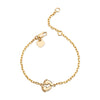 "14K Yellow Gold Kids Baby Feet Bracelet 5"" Or 6"""