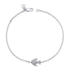 14K White Gold Kids Fish Bracelet