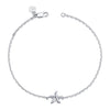 14K White Gold Kids Starfish Bracelet