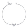 "14K White Gold Kids Butterfly Bracelet 5"" Or 6"""