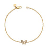 "14K Yellow Gold Kids Butterfly Bracelet 5"" Or 6"""